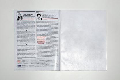 A blank page in a magazine