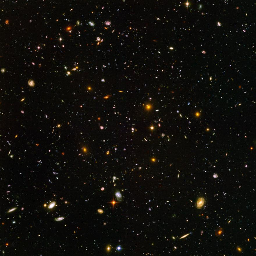 Hubble photo of galaxies
