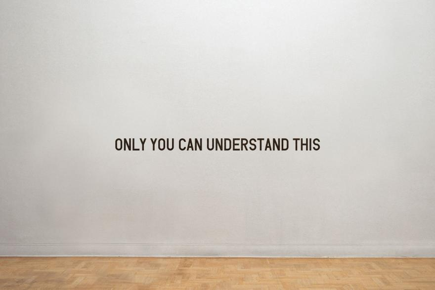 ONLY YOU CAN UNDERSTAND THIS