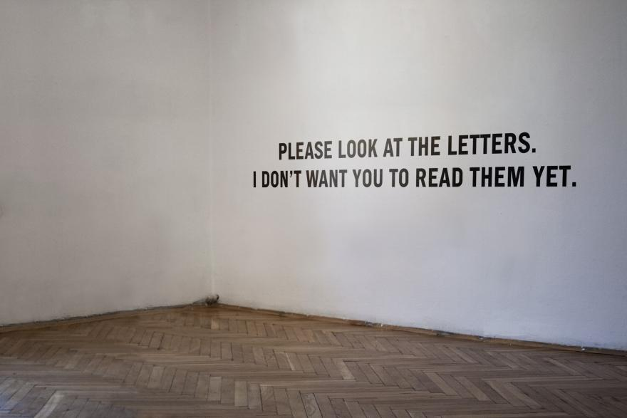 PLEASE LOOK AT THE LETTERS. I DON'T WANT YOU TO READ THEM YET.