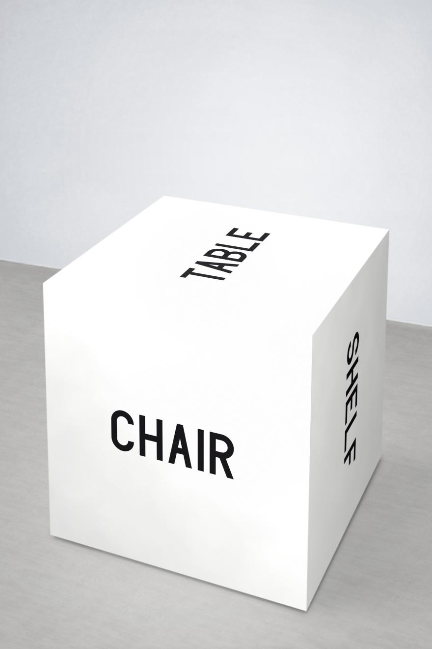 Chair. Table. Shelf. Box. Thing.