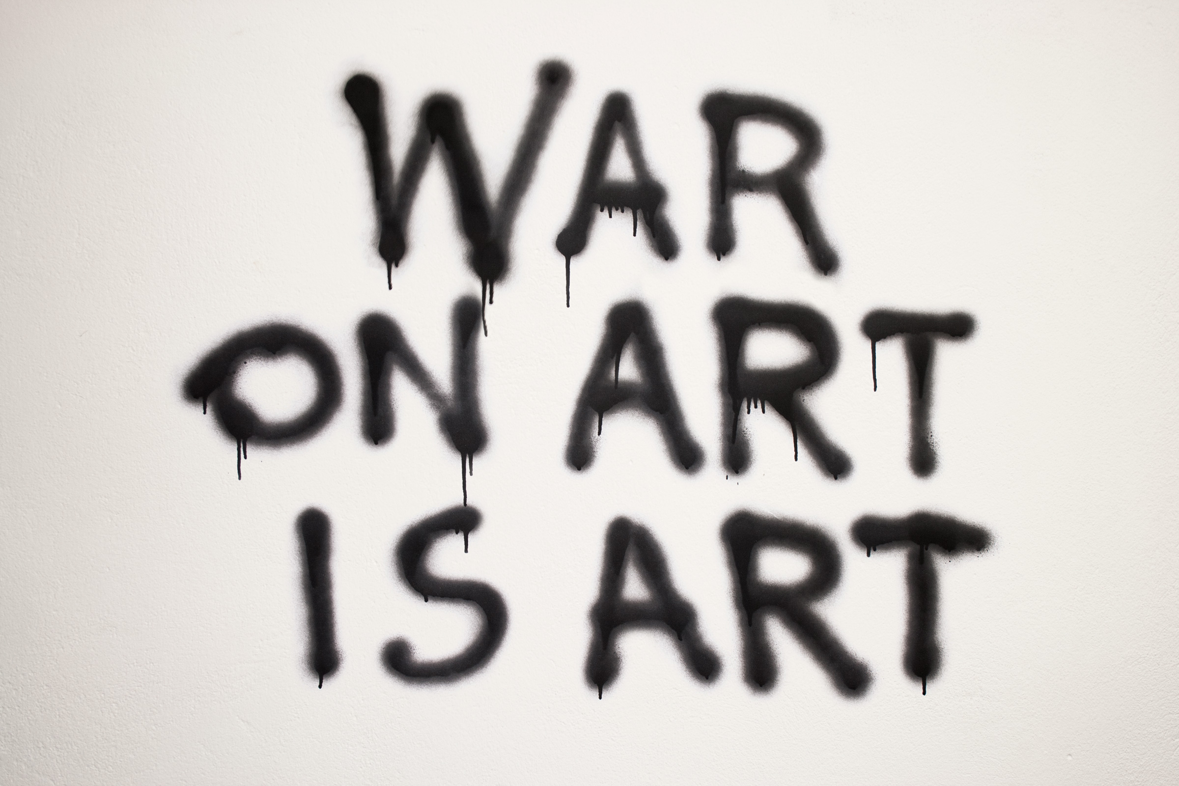WAR ON ART IS ART