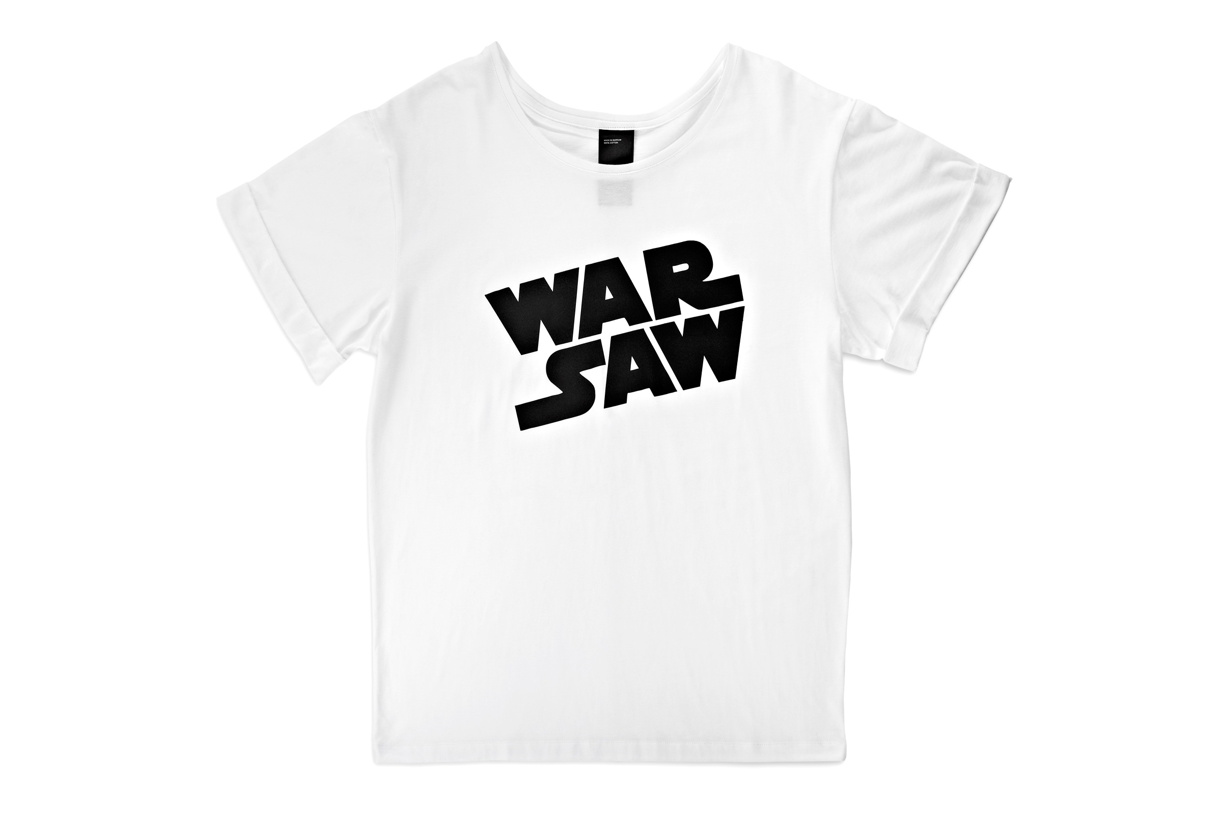 T-shirt with a WAR SAW print
