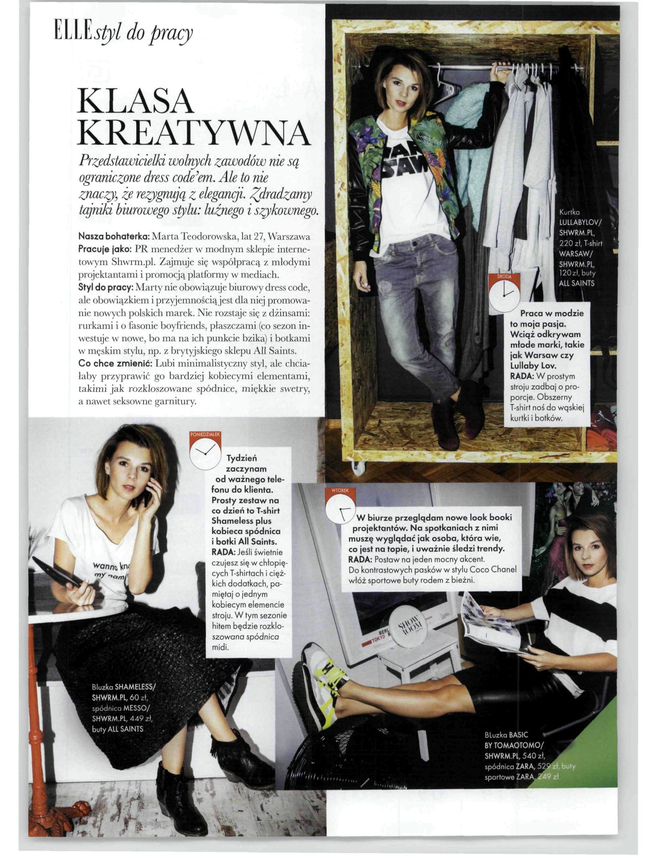 WAR SAW T-shirt featured in ELLE Magazine